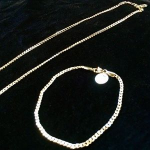 Other - MICRO CUBAN LINK CHAIN & BRACELET 18K GOLD ITALY